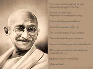 On Non-Violence and Peace by Mahatma Gandhi