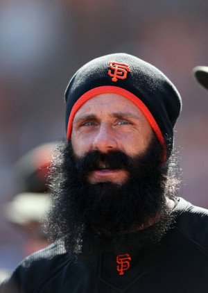 Brian Wilson Brian Wilson of the San Francisco Giants stands in the