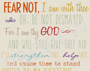 Missionary Quote Scripture Hymn Fea r Not I am With thee dismayed ...
