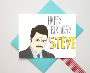 Parks And Recreation Ron Swanson Wrong Name Birthday Quote Card