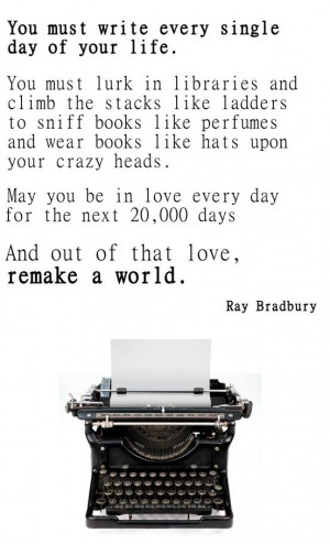 May you be in love every day for the next 20,000 days. And out of that ...