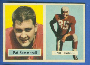 1957 Topps FB #.14 Pat Summerall [#a] (Chicago Cardinals) Football ...