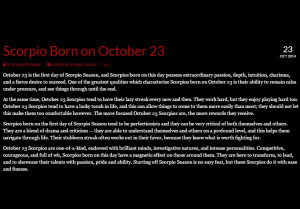 personality traits of scorpios born on october 23