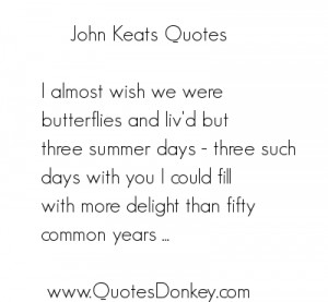 Quotes of John keats