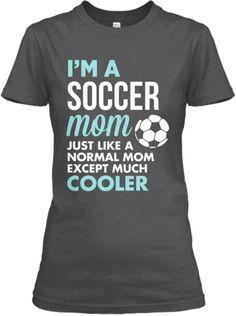 Soccer Mom t-shirt Proud Soccer Mom Shirt Sports Gear Fan Cheer S M L ...