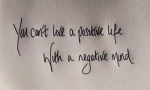 Eliminate the negative mind