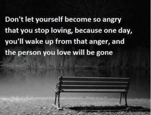 Don't let anger control you...