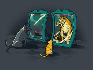 Starting With The Kitty In The Mirror