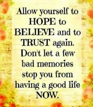 Hope, Believe, Trust