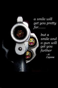 Amazon.com - AL CAPONE QUOTE POSTER smiles GANGSTER guns will get ...