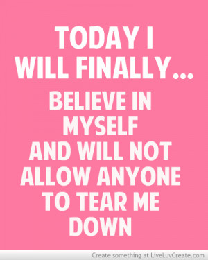 Will Believe In Myself