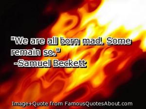 Samuel Beckett (1906 - 1989), author of