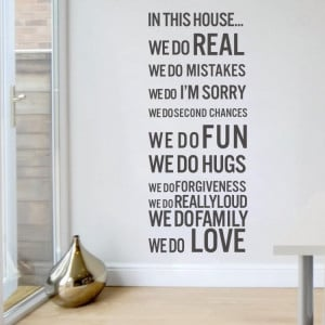 free shipping house rules In This House WE DO FUN LOVE FAMILY Wall ...