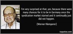 More Werner Klemperer Quotes