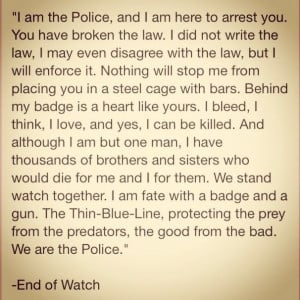 End of Watch...top of my favorite movie list! I love this movie, and ...