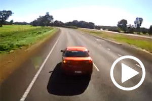 3AW Has Obtained Footage Of A Car Overtaking Truck Travelling At 100