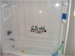 fun splish splash Cute bathroom inspirational vinyl wall decal quotes ...