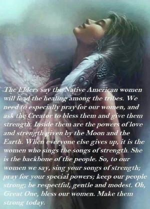Women, native prayer