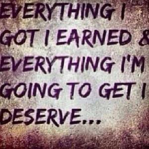 ve earned it