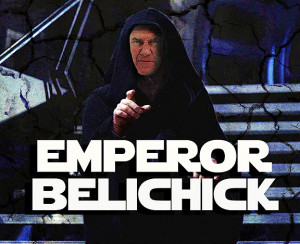 Bill Belichick of the New England Patriots, as Emperor Belichick