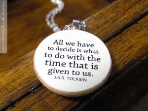 Lord of the Rings Necklace with Inspirational Quote