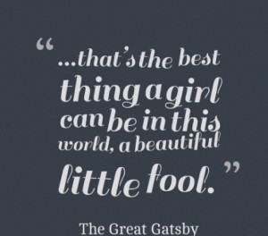Daisy quote from The Great Gatsby