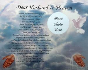 Memorial Verses Husband http://www.ebay.com/itm/Dear-Husband-In-Heaven ...