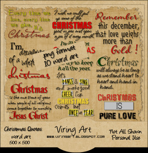 Christmas Quotes: WordArt