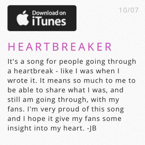 Justin Bieber's New Song Is For The Broken-Hearted