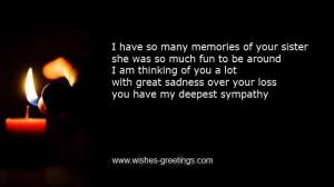 Death sister funeral verses