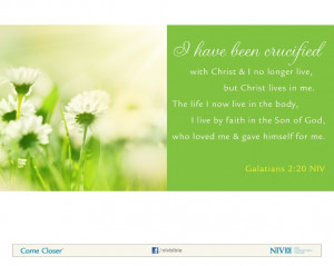 Galatians 2:20 NIV Bible Verse About Faith #NIVBible Bible Verse