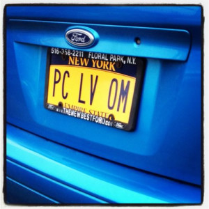 usually hate vanity plates, but this one is adorable and I love it ...
