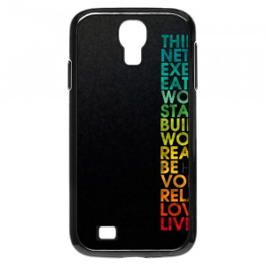 Multiple Positive Words Motivational Quotes Galaxy S4 Case