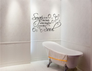 Funny Quotes Wall Murals for Small Bathroom Decoration Ideas