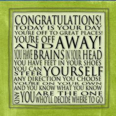 To my beautiful niece who is graduating today..... Congratulations ...