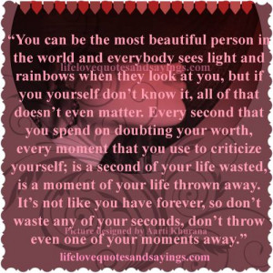 Never Doubt Your Own Worth..