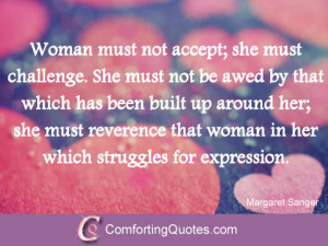 quotes for women women encouragement quotes by margaret sanger woman ...