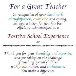 appreciation quotes teacher appreciation special acknowledgments for