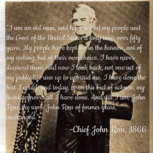 Chief John Ross, first Principle Chief elected to the Cherokee Nation ...