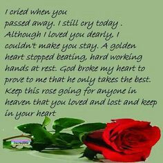 Missing someone who passed away