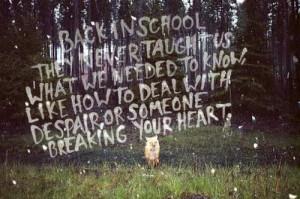 love quote quotes lyrics school animal Brand New Band fox heartbreak ...