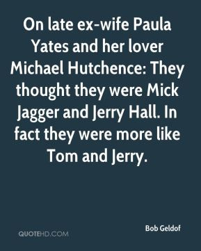 On late ex-wife Paula Yates and her lover Michael Hutchence: They ...