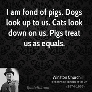 Winston Churchill Pig Quote