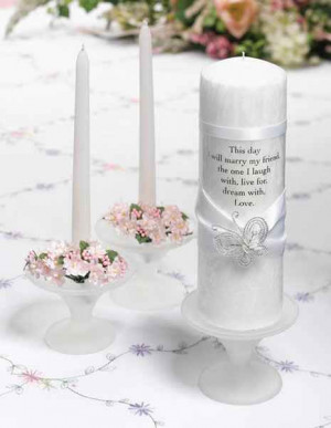 Personalized Wedding Candle