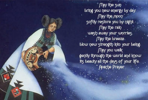 Oh Great Spirit, whose voice I hear in the wind,