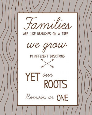 Family Roots - quote print
