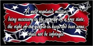 Rebel Flag 2nd Amendment Vinyl Decal Sticker confederate southern ...