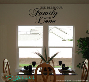 Details about God Bless Our Family Love Wall Quotes Sayings Graphic ...