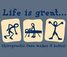 Chiropractic makes life better! Stop by for an adjustment! Halo ...