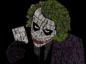 Image of the Day: The Joker's portrait made from creepiest quotes